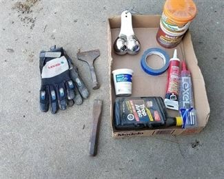 chisels, gloves and truck nuts