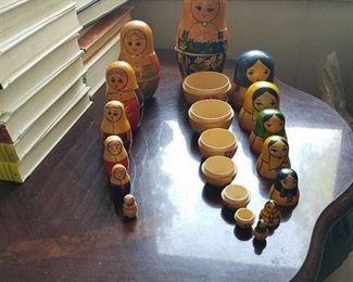 2 Sets of Bubushka Dolls