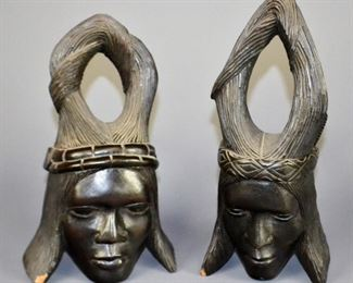 Vintage African Bookends