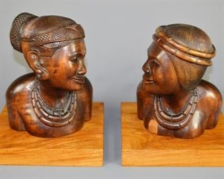 Philippine Carved Art Busts