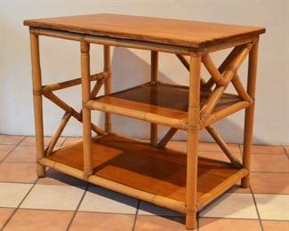 Vintage Rattan Table