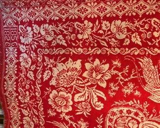 1856 Perfect Red Coverlet