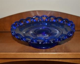 gorgeous cobalt blue shallow dish