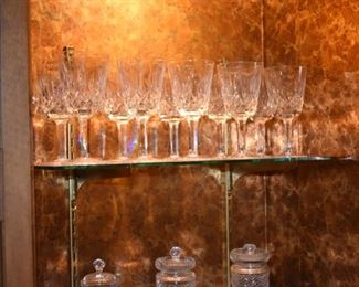 Lots of Waterford crystal - Lismore pattern!