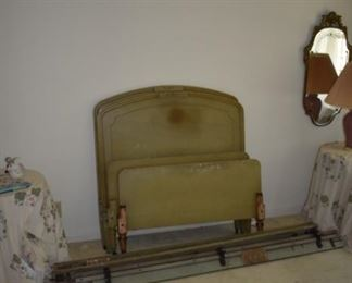 Pair of vintage twin bed frames