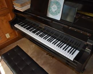 Another view of Kimball baby grand piano