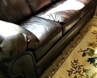 We Also Have A Beautiful Leather Sofa...