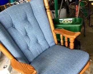 AND A Slider Rocker W/Footstool...