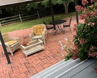 Out Back...We Have Some Patio Furniture...