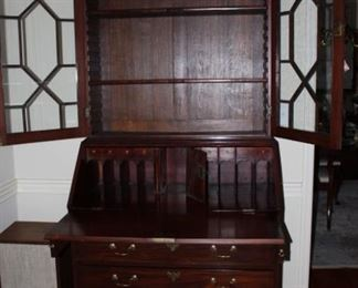 English Chippendale Secretary w/Key Circa 1775-1810