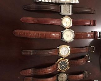 Mens Watches -Relic,2  Kenneth Cole, Chariot, Timex, Sierra Club - all need batteries