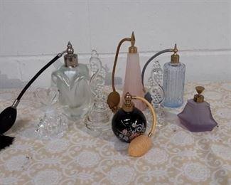 Lot Of 8 Perfume Atomizer Bottles