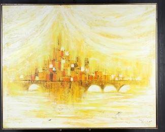 Vanguard Studio Style Mid Century Painting