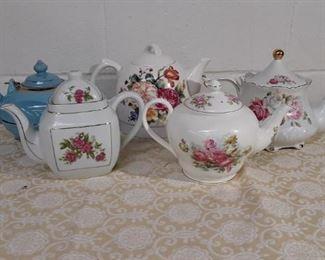 Lot Porcelain Tea Pots