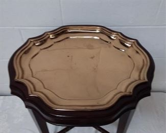 Ethan Allen Brass Tray Table