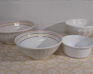 4 Large Mixing Bowls