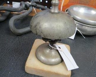 Antique desk/hotel bell.