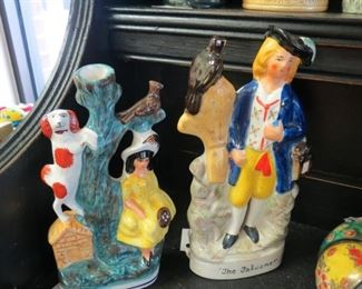 Staffordshire figurines.