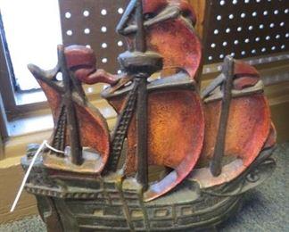 Cast iron ship door stop.