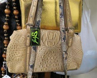 Designer purses.