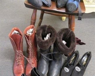 Designer shoes and boots. Stephane Kelian, Annie Lago, Anne Klein Couture and many others.