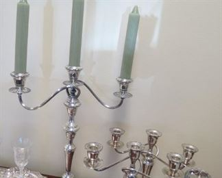 Sterling silver candelabra.