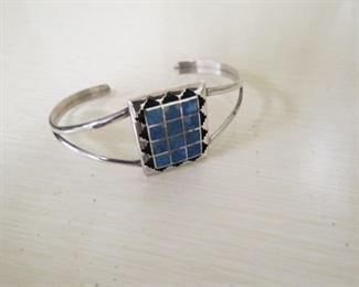 Navajo Teme sterling silver cuff bracelet.