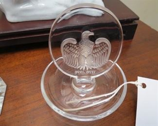 Lalique eagle pin dish.