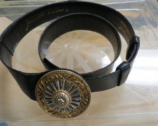Judith Leiber belt.