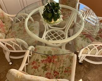 This is a wonderful rattan dinette or patio set!!