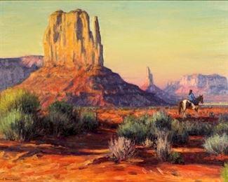 1 of 5 Karl Thomas Landscape Paintings