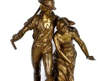 Alfred Boucher Les Faucheurs Bronze Figural Group