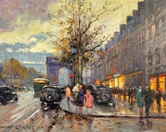 Edouard Cortes Arc de Triomphe Painting