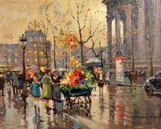 Edouard Cortes Place de la Madelein Painting