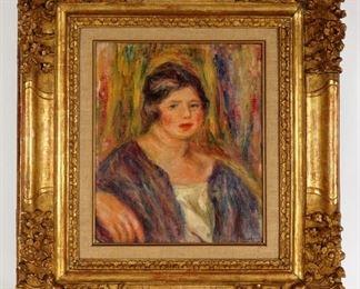PierreAuguste Renoir Original Portrait Oil Canvas