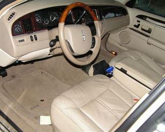 clean leather interior