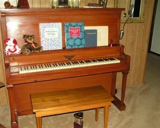 LEONARD upright piano with bench