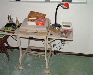 typewriter cart