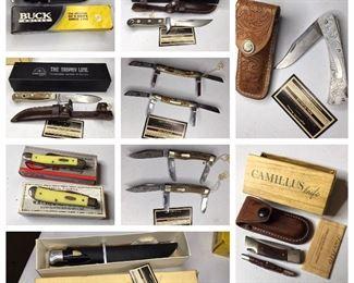 Buck, Case & Solingen knives