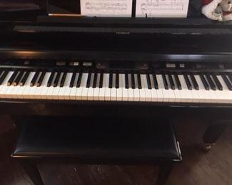 Roland black piano