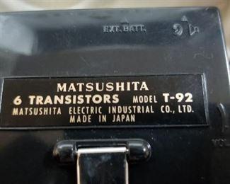 Matsushita T92 6 transistors
