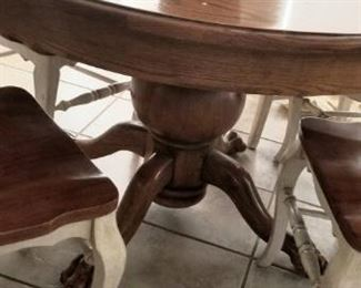 Closer view of table