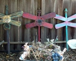 Dragon fly yard art