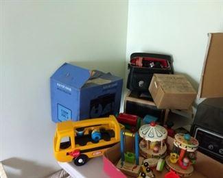 Fisher Price toys, keystone movie camera