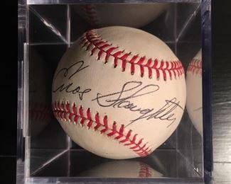 Enos Slaughter Signed Baseball