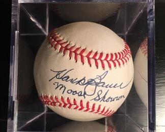 Hank Bauer & Moose Skowron Signed Baseball