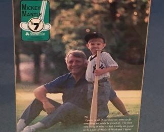 Mickey Mantle Signed & Framed Program