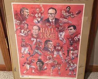 1988 Kansas City Chiefs Hall of Fame Autographs Framed w/ COA!