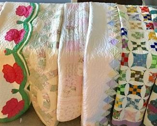Beautiful Hand-Stitched Quilts - Just in Time to Snuggle Up For The Cooler Weather!