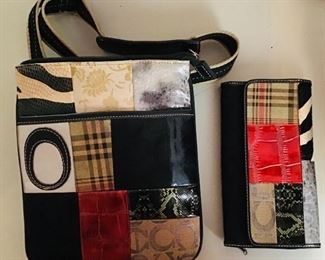 Faux Coach purse and wallet